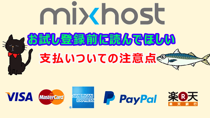 Mixhost支払い方法の注意点