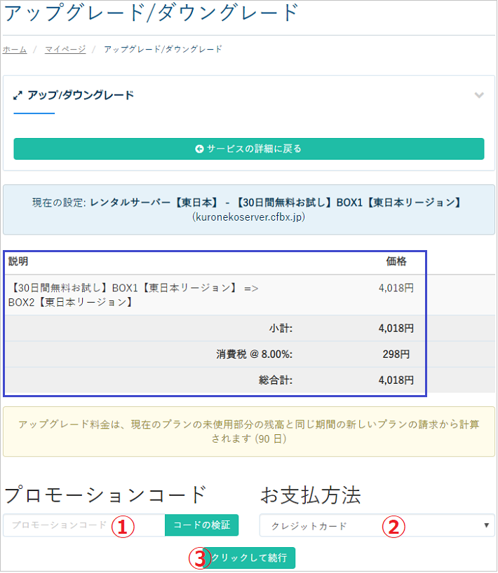 カラフルボックス本契約手順7